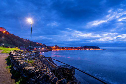 Scarborough, Yorkshire, First Light, Blue Hour