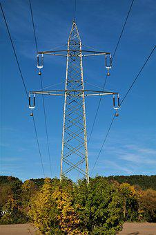 Strommast, Power Line, Electricity, High Voltage