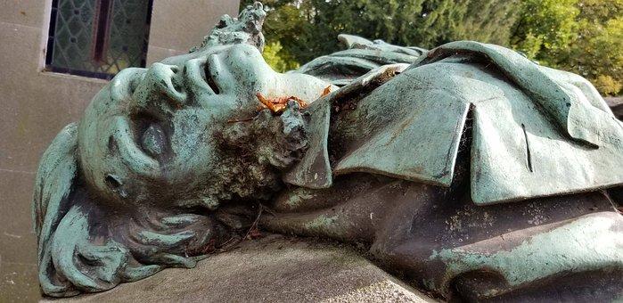 Statue, Cemetery, Grave, Memorial, Death, Sculpture