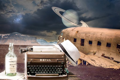 Writer, Typewriter, Creativity, Plane, Retro, Vintage
