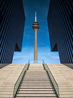 Düsseldorf, Media Harbour, Architecture, Building, Port