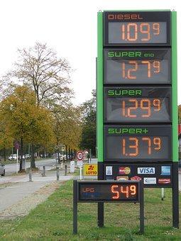 Price Display, Petrol Stations, Berlin, Germany, Refuel