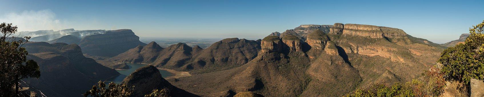 Panorama, Three Rondavels, South Africa, Nature