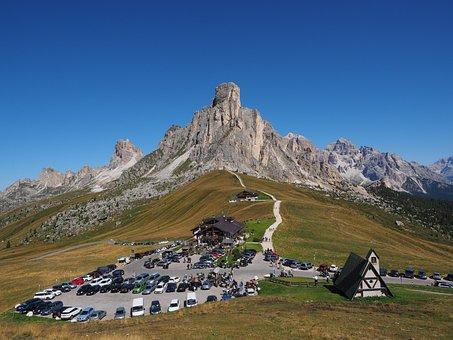 Pass, Pass Di Giau, Pass Road, Road, Tourism, Dolomites