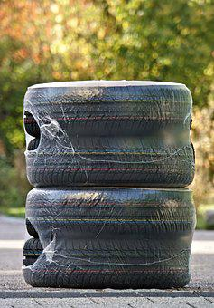 Winter Tires, Mature, Auto Tires, Tyre Stack, Packed