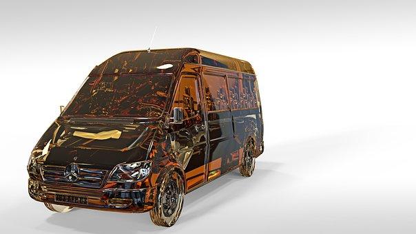 Mercedes Benz, Car, 3d Model, Van