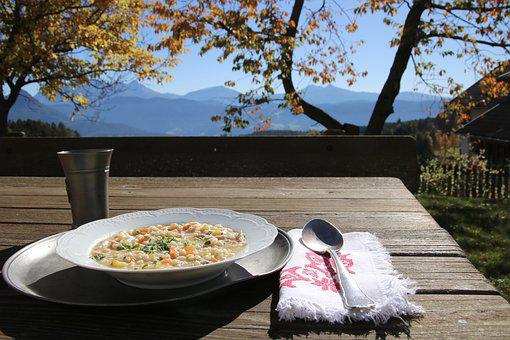 Gerst Soup, Autumn, South Tyrol, Cover, Wooden Table
