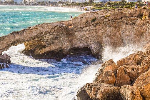Cyprus, Ayia Napa, Autumn, Stormy, Weather, Waves