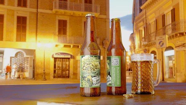 Beer, Beer Bottle, Bottle, Alcohol, Drink, Liquid