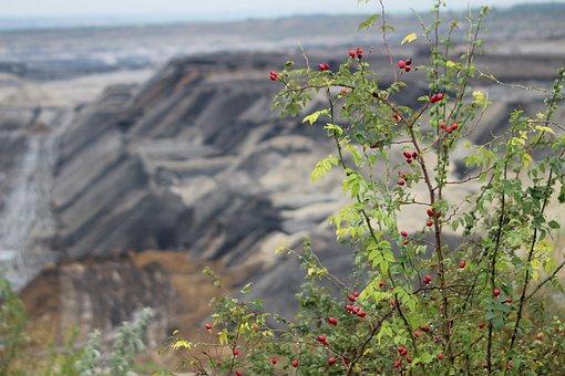 Mining, Open Pit Mining, Brown Coal, Dump, Overburden