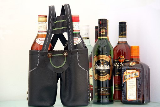 Leather Pants, Bar, Lederhosen Bar, Bottles, Drink