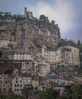 Rocamadour, Medieval, Village, Cliff, France, French