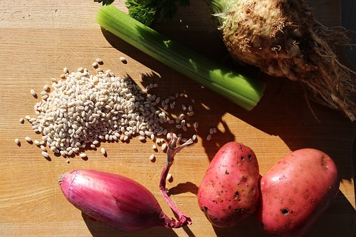 Gerst Soup, Ingredients, Barley, Onions, Potatoes