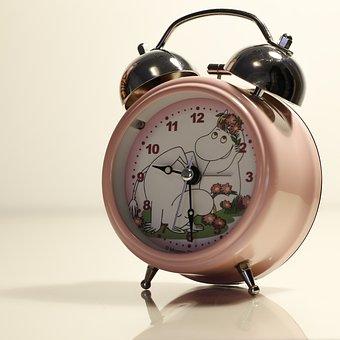 Clock, Alarm Clock, Pink, Moomin, Moomin Clock