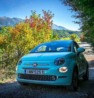 Fiat 500, Car, Autumn, Nature Driving