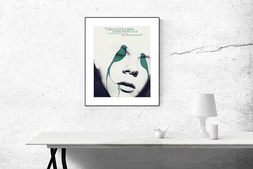 Poster Mockup, Mockup, Poster, Frame, Template