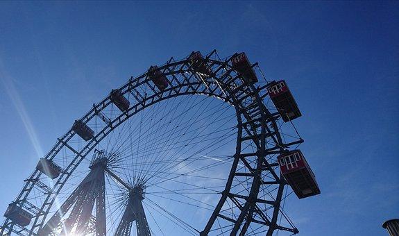 Ferris Wheel, Vienna, Gondola, Prater