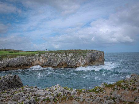 Cliff, Asturias, Sea, Spain, Landscape, Nature, Water