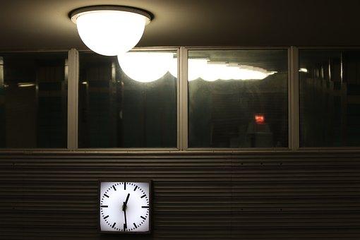 Station Clock, Clock, Lamp, Hanging Lamp, Mirroring