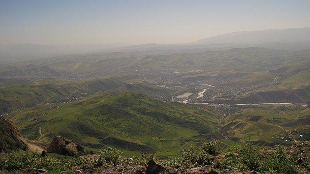 Tajikistan, Mountains, Landscape, Sky, Nature, Pass