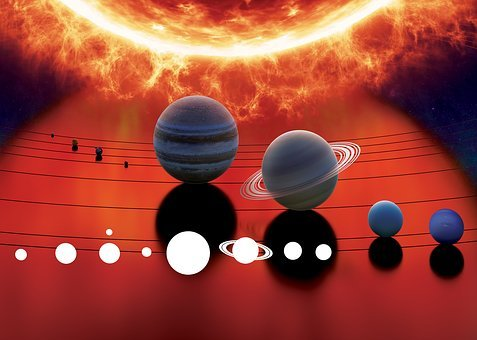 Solar System, Space, Planet, The Sun