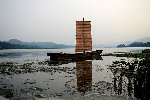 Times, Whet Is The Only Boat, River, Landscape