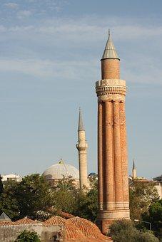 Minaret, Cami, Islam, Antalya, Turkey, Yivli Minaret