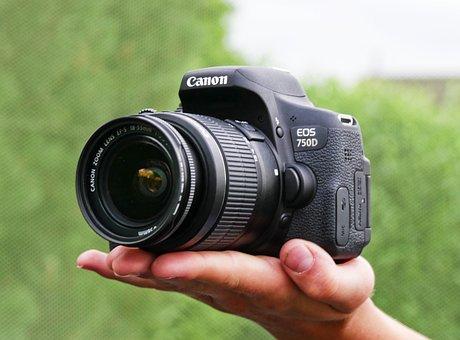 Camera, Canon, 750d, Lens, Digital Camera, Zoom Lens