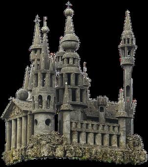 Castle, Fairy Castle, Concrete Parts, Model, Concrete