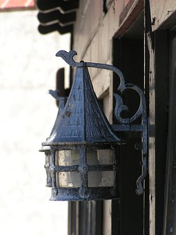 Scotty's Castle, Death Valley, Lamp, Desert