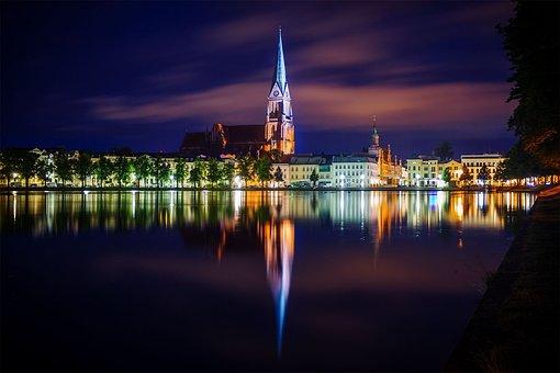 Dom, Schwerin, Long Exposure, Color, Darkness