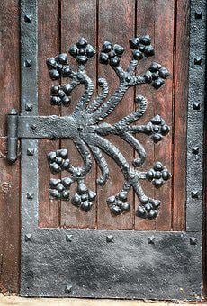 Door Hardware, Detail, Iron, Blacksmithing, Metal