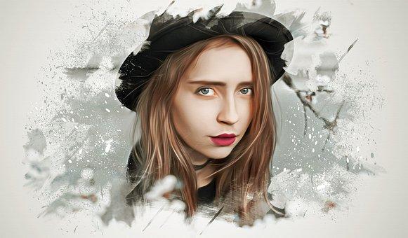 Woman, Female, Young, Beauty, Portrait, Fantasy