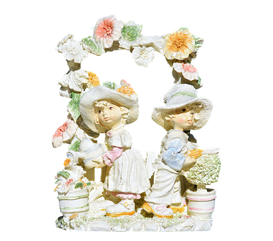Flower Children, Flowers, Girl, Child, Figures, Deco