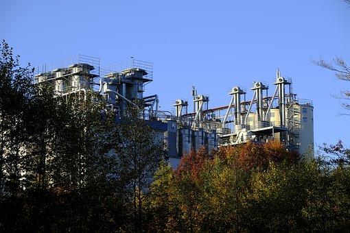 Factory, Industry, Kieswerk, Holzmühle