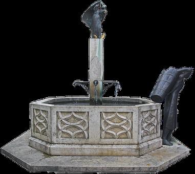Fountain, Market Fountain, Natural Stone, Trim