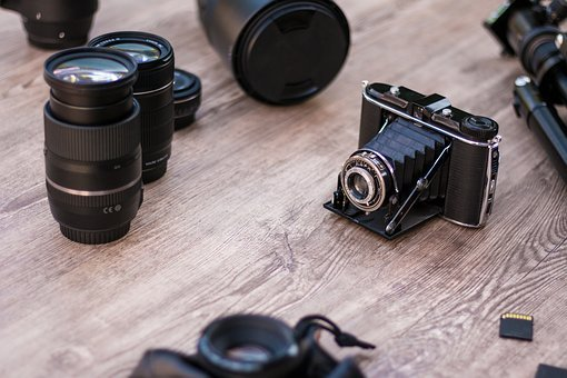 Analog Camera, Old, Lenses, Photographic Equipment