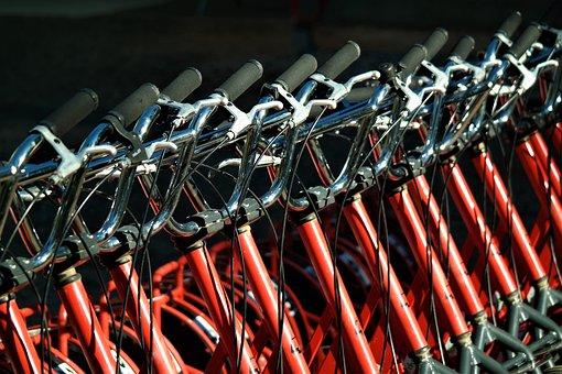 Roller, Handlebar, Brake, Vehicle, Metal, Red, Sporty