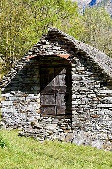 Stone House, Barn, Stone Wall, Stone Built House, Hut