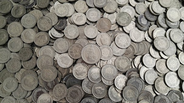 Money, Coins, The Swiss Franc, Chf, Switzerland, Cents