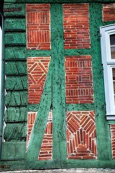Oak, Bar, Old, Weathered, Wood, Fachwerkhaus, Truss