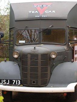 Van, Old Car, Tea Wagon, Army