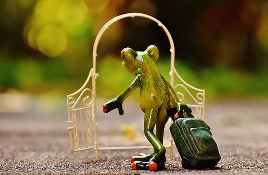 Archway, Garden Door, Frog, Farewell, Sad, Go, Fig