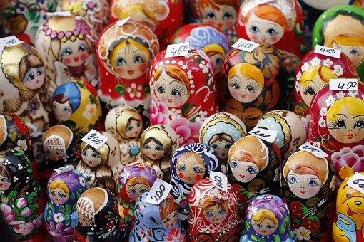 Matruschka, Matroschka, Babuschka, Doll, Moscow, Russia