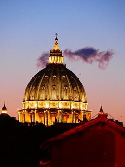 St Peter's Basilica, Dome, Vatican, Rome, Church
