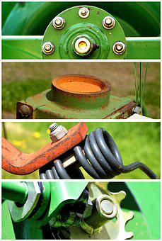 Agricultural Machine, Screw, Fixing, Connection, Gland