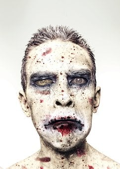 Man, Face, Wounds, Male, Head, Halloween, Zombie