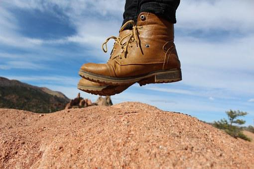 Feet, Boots, Jump, Adventure, Fashion, Hiking, Hipster