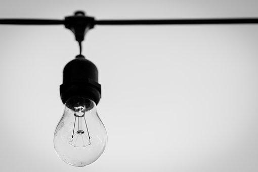 Incandescent, Light Bulb, Hanging Bulb