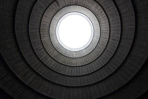 Belgium, Charlerois, Cooling, Tower, Inside, Power
